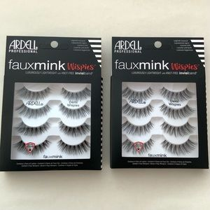 2 ARDELL PROFESSIONAL 8 Pairs Fauxmink Wispies